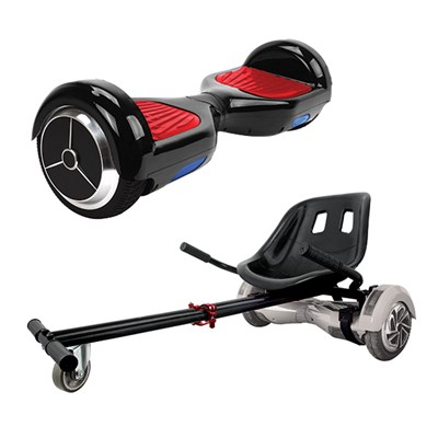 iconBIT Mekotron Hoverboard with Kato Go Cart Attachment