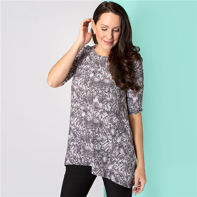 Emelia Soft Touch Half Sleeve Pocket Top