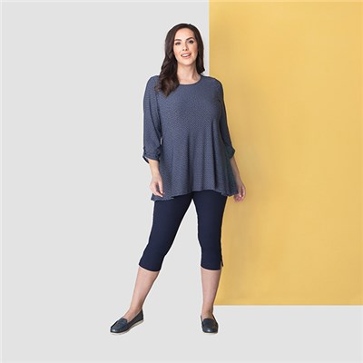 Emelia Soft Touch 3/4 Sleeve A Line Tunic