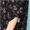 Emelia Soft Touch 3/4 Tab Sleeve A Line Tunic - Black Blossom, Navy Tile