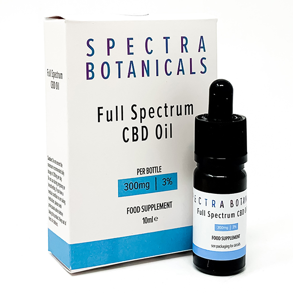 Spectra Botanicals CBD Oil Dropper 3% 300mg No Colour