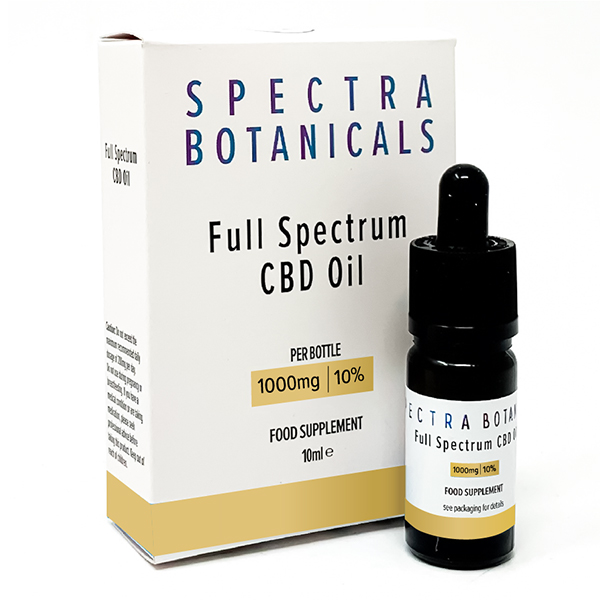 Spectra Botanicals CBD Oil Dropper 10% 1000mg No Colour