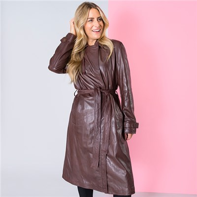Lakeland Leather Tanya Trench Coat