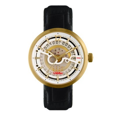 CCCP Gent's Kashalot Dress Automatic Watch with Genuine Leather Strap