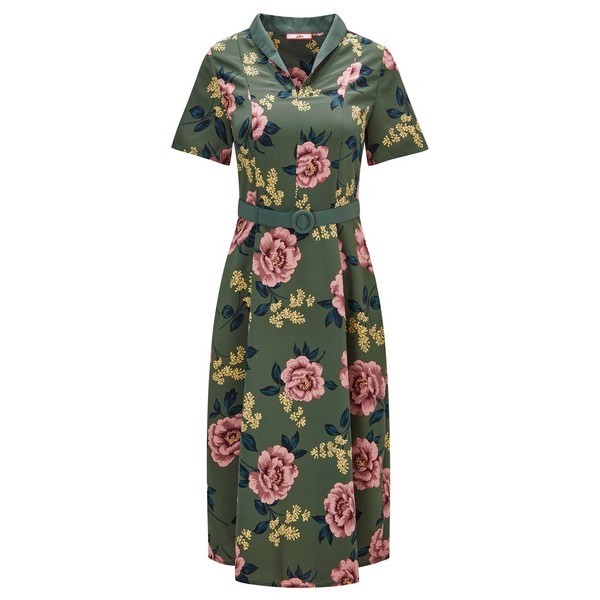 Joe Browns Beautiful Belted Dress Green Multi
