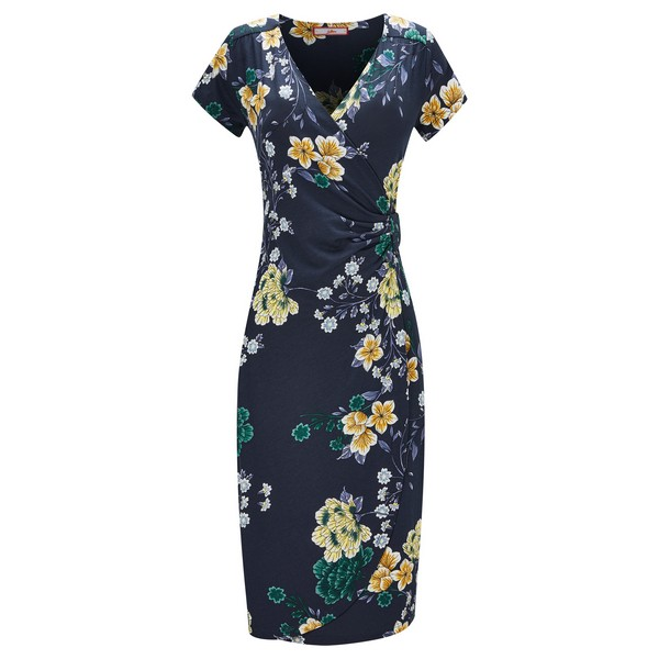 Joe Browns Evening Florals Dress Navy Multi