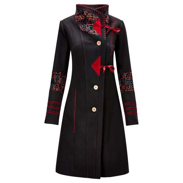 Joe Browns Elegant Embroidered Coat Black