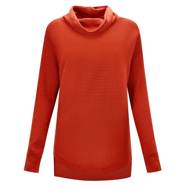 Joe Browns Cosy Rib Knit Jumper Orange