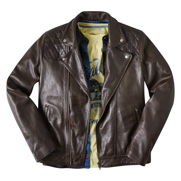 Joe Browns Aged To Perfection Leather Jacket Conker
