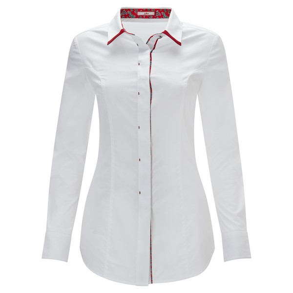 Joe Browns Double Collar Shirt White/Red