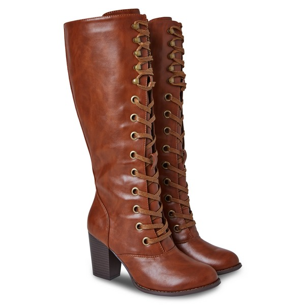 Joe Browns This Season's Tall Lace Up Boots Chestnut