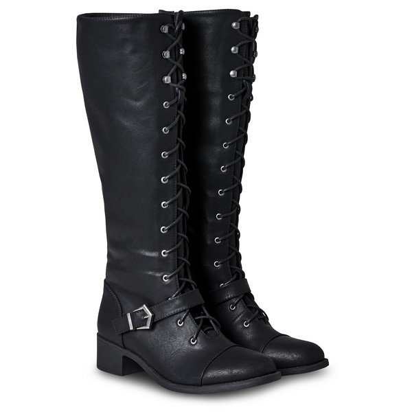 Joe Browns Sweet Talkin' Lace Up Boots Black