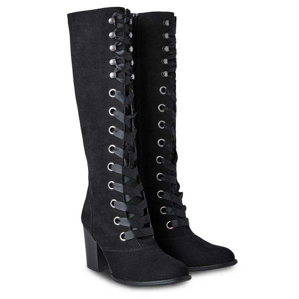Joe Browns Racy Katy Lace Up Boots Black