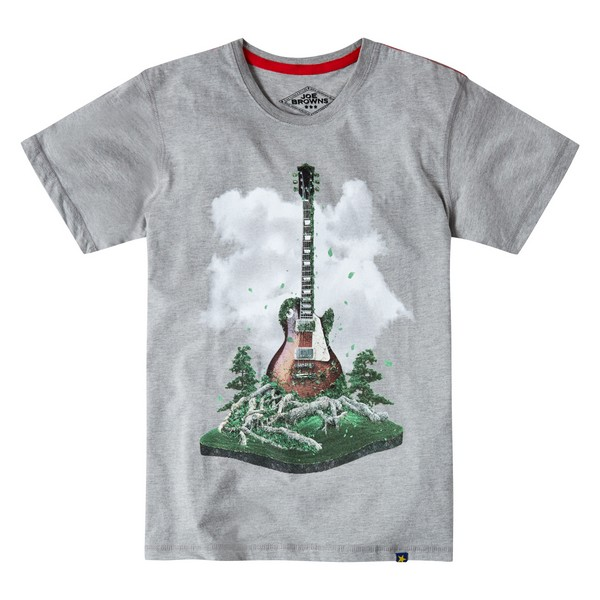Joe Browns Greener On The Other Side T-Shirt Grey