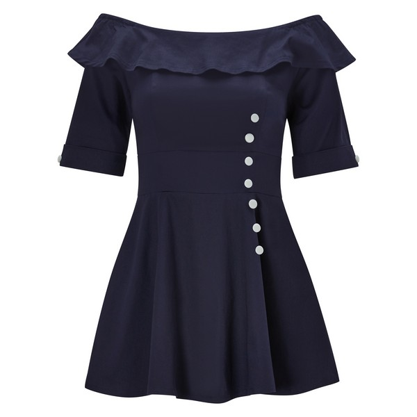 Joe Browns Remarkable Vintage Style Top Navy