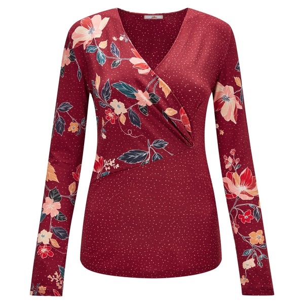 Joe Browns Purely Pretty Wrap Top Reds
