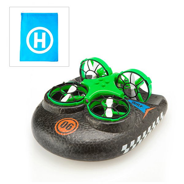 Hover Blast 3 in 1 Air, Land and Sea Drone with Storage Bag Green