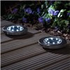 Zennox 8 LED Solar Deck Lights - Twin Pack