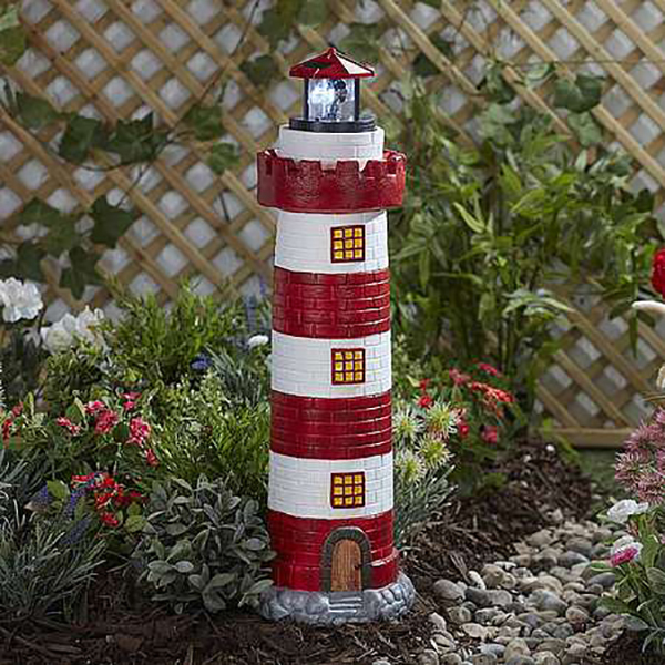 Garden Gear Solar Lighthouses - Large No Colour