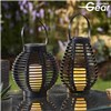 Garden Gear Flickering Candle Rattan Solar Lantern - Tall