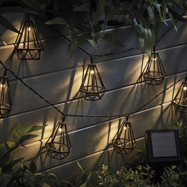 Zennox Solar Style Caged Solar Lights - Diamond No Colour