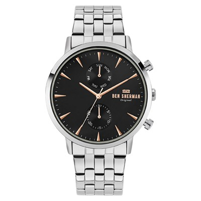 Ben Sherman Gent's Portobello Professional with Stainless Steel Bracelet