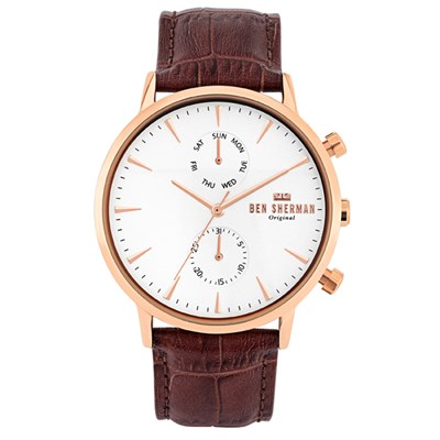 Ben Sherman Gent's Portobello Professional Sport Watch with Genuine Leather Strap