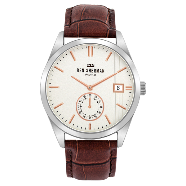Ben Sherman Gent's Spitafields Heritage Watch with Genuine Leather Strap Brown