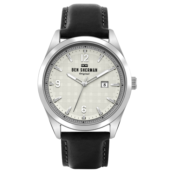 Ben Sherman Gent's Carnaby Check Watch with Genuine Leather Strap