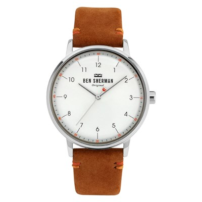 Ben Sherman Gent's Portobello City Watch with Genuine Leather Strap