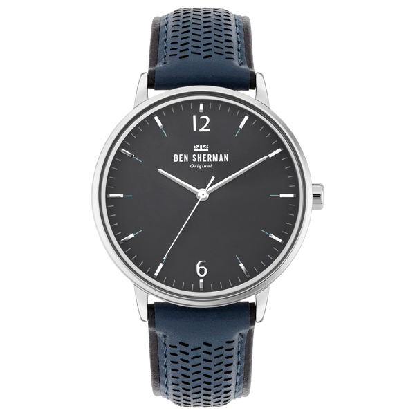 Ben Sherman Gent's Portobello Social Watch with Genuine Leather Strap Grey