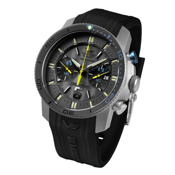 Vostok Europe Gent's Titanium Ekranoplan Watch with Silicone Strap Grey