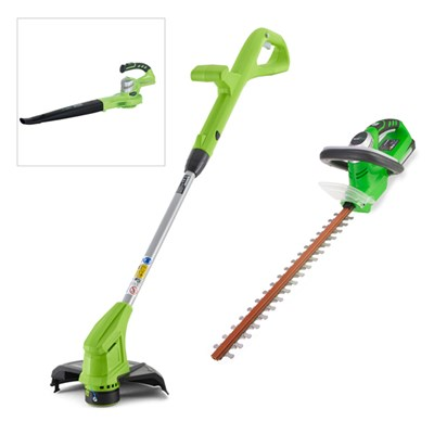 Greenworks 24V Cordless Garden Tools Twin Pack with Batteries & FREE Blower (Tool Only)