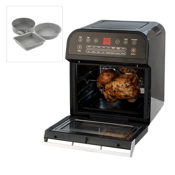 Salter XL Power Cook Airfrying Oven with Salter 3 Piece Marble Bake Set No Colour