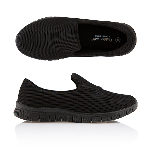 Cushion Walk Slip On Trainer Black