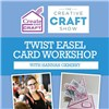 The Creative Craft Show Rose Shoe Twist Easel Card Workshop