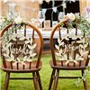 Ginger Ray Chair Signs - Bride & Groom
