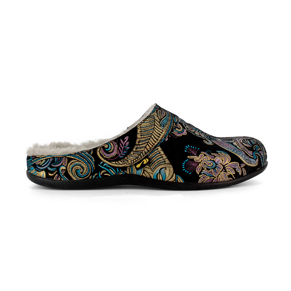 Strive Vienna Paisley Slipper Black Paisley