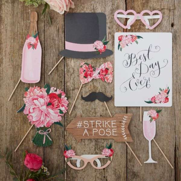 Ginger Ray Wedding Photo Booth Props - Boho No Colour
