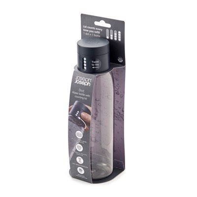 Joseph Joseph Dot Hydration-Tracking Water Bottle 600ml