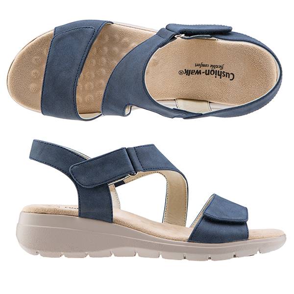 Cushion Walk Touch Close Sandals Navy