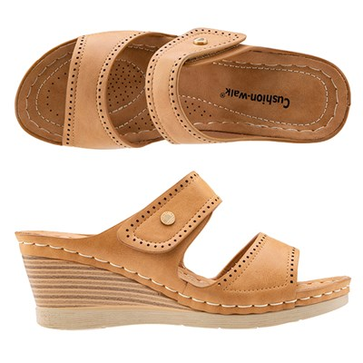Cushion Walk Touch Close Wedge Mule Sandals
