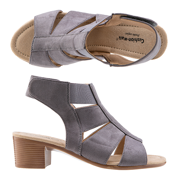 Cushion Walk Peep Toe Block Heel Sandal Slate