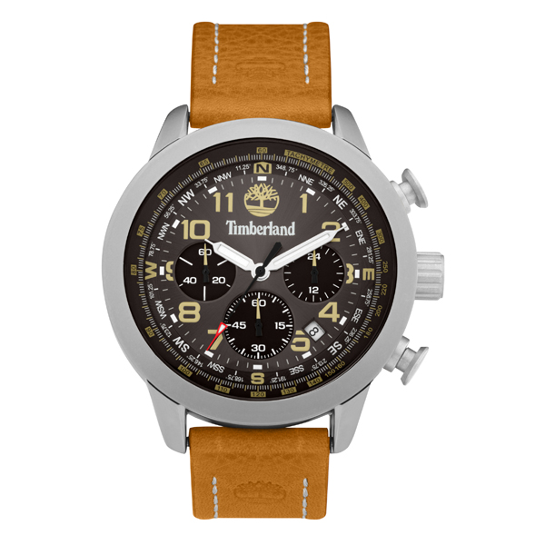 Timberland Gent's Westbury Chronograph Watch with Genuine Leather Strap Black
