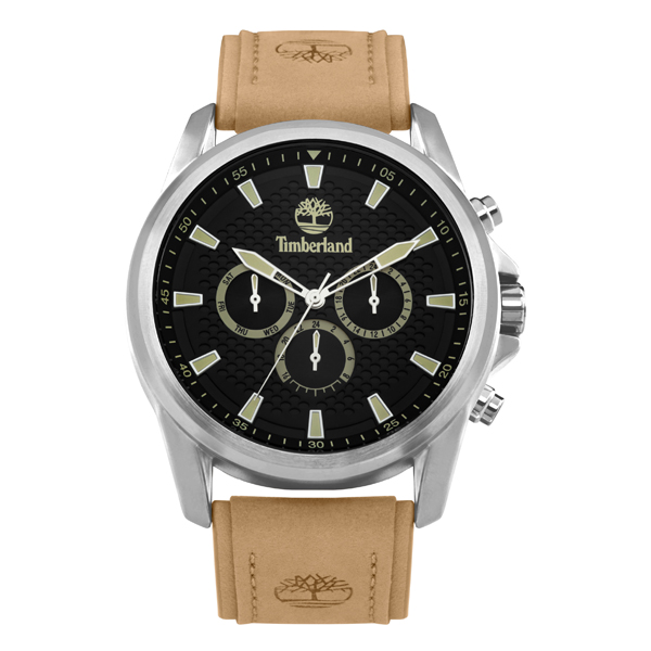 Timberland Gent's Brooklyn Watch with Genuine Leather Strap Black