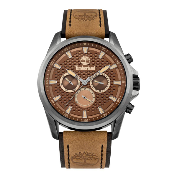 Timberland Gent's Brooklyn Watch with Genuine Leather Strap Brown