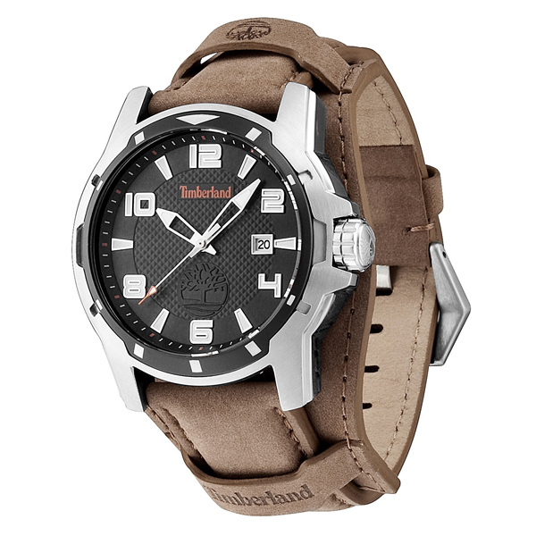 Timberland Gent's Maybrook Watch with Genuine Leather Strap Black