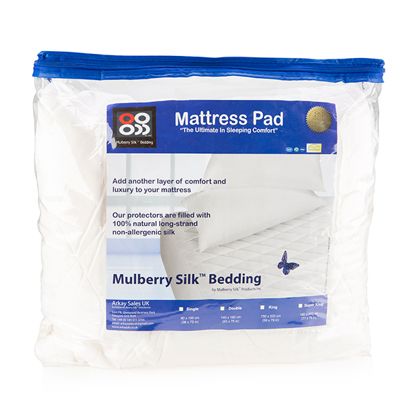Mulberry Silk Co. Mattress Enhancer (Super King) No Colour
