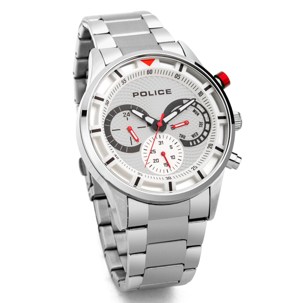 Police Gent's Drive II Watch with Stainless Steel Bracelet Silver