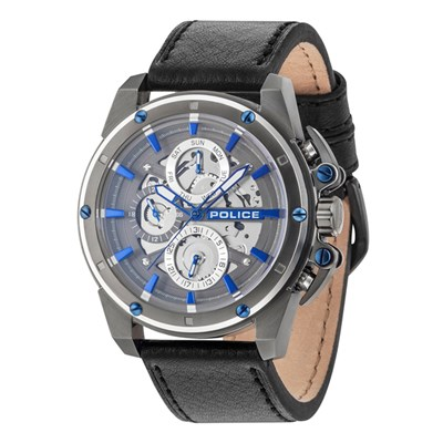 Police Gents Metro Watch with Genuine Le